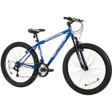"NEW Huffy Mountain Bike 26"" Blue Fat Tire Men's Trail Bicycle Shimano 18 Spe"