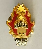 Harley Davidson Ride To Live Live To Ride Motorcycle Pin Badge Rare Vintage (F8)