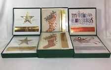 7 Boxes Masterpiece Studios Holiday Cards, 16 Cards & Envelopes Per Box