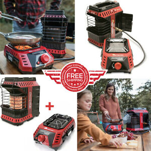 NEW Mr. Heater Buddy FLEX Portable Radiant Heater AND Cooker Bundle Lot Set