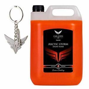 Car Gods Arctic Storm Thick Snow Foam Car Shampoo Orange Scent 5L & free keyring