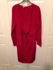 Valentino Knit Dress Red Ruffle Size XL $2950