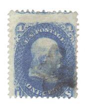 Scott 92 Early US Stamp..1c Franklin... 1861-62... F Grill