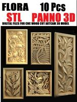 10 Pcs Flora STL relief 3d model relief for cnc in STL file format