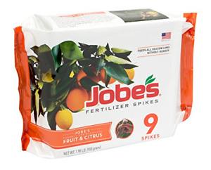 Jobes Fruit & Citrus Fertilizer Spikes 9 Spikes Free Shipping