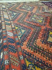 Hand Knotted Afghan Soft  Woollen Rug mid 20 Th Century