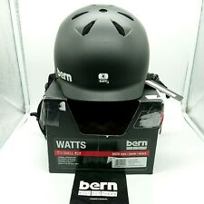 Bern Unisex Watts EPS Cycling Helmet, Matte Black, Size Medium - NEW RRP