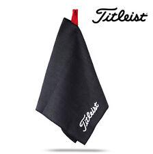 """2017 Titleist Microfiber Waffle Design Golf Towel 16"""" x 32"""" Black TA5ACMFTWL"""