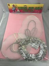 ANGEL/FAIRY WINGS AND TINSEL HALO SET FOR CHILDREN CHRISTMAS FANCY DRESS PARTY