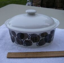 Vintage Finnish ARABIA Pottery COVERED CASSEROLE DISH-Egg Shaped Pattern-NR & Casserole Dish White Arabia China \u0026 Dinnerware | eBay