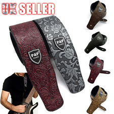 More details for classic electric au acoustic basses luxury soft guitar strap pu leather