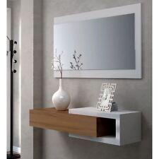 Consolle specchio cassetto svuotatasche ingresso noce bianco console muro parete