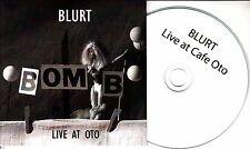 BLURT Live At Cafe Oto 2017 UK 10-track promo CD