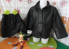 ensemble cuir occasion fille taille 4 ans,veste + jupe