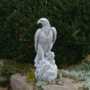 Massif Pierre Aigle Oiseau Décoration de Jardin Fonte Résistant au Gel D'Espace