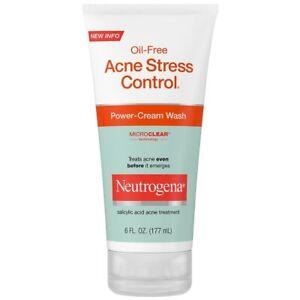 Neutrogena Oil-Free Acne Stress Control Power Cream Wash (6 oz/177ml) USA IMPORT