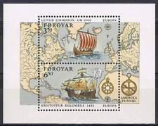 Faeroer/Faroer postfris 1992 MNH Block 5 - Columbus ontdekt Amerika (S0764)