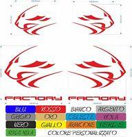 4 ADESIVI APRILIA FACTORY RACING LEONE RSV4 MOTO STICKERS A COLORI COD15