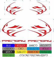 4 ADESIVI APRILIA FACTORY RACING LEONE RSV4 MOTO STICKERS A COLORI COD15