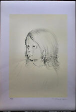 Fiorello Tosoni litografia originale Fanciulla 70x50 firmata numerata 73/99