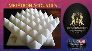 """2""""X 12""""X 12"""" Pyramid Acoustic Foam Studios Sound Absorption Wall Panels 96 Pack"""