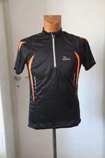 Original  Tee shirt Zippé  homme Running ROGELLI Needham Noir orange  S  neuf