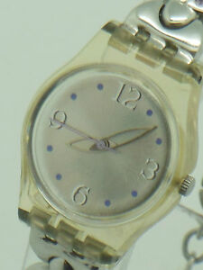 Ladies Swatch bracelet Quartz wristwatch needs replacement battery