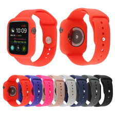 Silicone Band Strap + Case Cover For Apple Watch Series 5 4 3 2 1 42/44 38/40mm