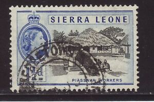 1956 Sierra Leone 1½d Piassava Workers Fine Used SG212.