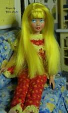 Ooak Vintage Skipper Doll 1964~Re-Root Yellow Hair~High Color Repaint~New Stand