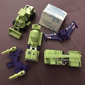 Transformers G1 Constructicon Devastator Lot 1984 Incomplete