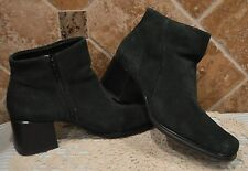 PERFECT 4 FALL~FORREST GREEN LEATHER BOOTIES BY WHITE MOUNTAIN~SIZE 8 1/2 W~NWOT