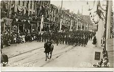 STREET PARADE - 6th. REG. OF PENNSYLVANIA N. G. ca 1900s  REAL PHOTO POSTCARD