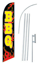 Bbq Banner Flag Sign Windless Swooper Kit