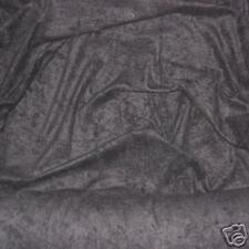 BLACK FAUX SUEDE (SUEDETTE / DOE SUEDE) FABRIC - WIDTH - 150cms