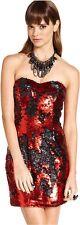 Trixxi Juniors Dress, Strapless Sequin Mini, (org 68.00) Size varies