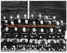 1920 DECATUR ILLINOIS STALEYS - BEARS 8X10 TEAM PHOTO GEORGE HALAS
