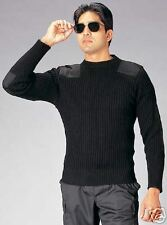 BRAND NEW GI Military Style Government Black Wool Commando Sweater CHOICE SIZE!