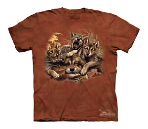 Rise and Shine- Wolf Family Wolves Youth T-SHIRT #151146 sizes S-XL