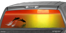 SUNSET DOLPHINS Rear Window Graphics Decal Sticker Print Tint Truck SUV ute Cap