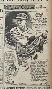 1935 newspaper panel In This Corner by Krenz - Floyd Pep Young Pittsburgh Pirate