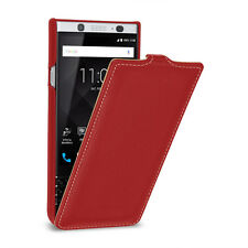 TETDED Premium Leather Hard-shell Case for BlackBerry KEYone Troyes LC Red