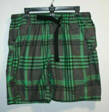 The North Face Swim Trunks Adult Medium Green Plaid Bathing Suit Shorts Mens