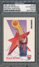 1991/92 Skybox #186 Drazen Petrovic PSA/DNA Certified Authentic Auto *2804