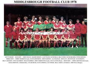 MIDDLESBROUGH F.C TEAM PRINTS 1970's (70/71/1972/1973/1974/1975//1977/1978/1979)