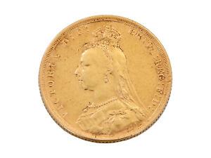 1888 Sydney Full Sovereign JEB 22ct Gold
