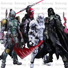 "Star Wars 10"" Play Boy Toy Action Figure Gift Darth Vader Boba Fett Stormtrooper"