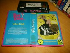 VHS *VELVET HIGH* 1981 Pre Cert RARE Australian Pink Video Issue Romantic Drama