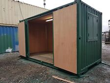 Rare Size 15x8 Ft Secure Store Or Workshop 8ft Side Doors & Security Windows