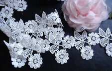 2 3/8 inch wide ivory embroidered lace trim selling by the yard